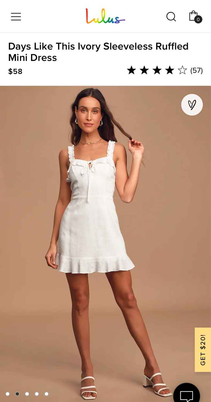 Bridal shower and rehearsal dinner outfits - 1