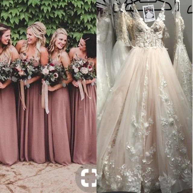 6ece2323955 And have you seen any bridesmaid dresses in this color  I can t seem to  find a deep dusty rose like this picture I found on Pinterest.