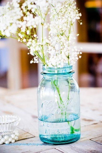 Hydranga and mason jars flowers weddings style and for Why are mason jars called mason jars