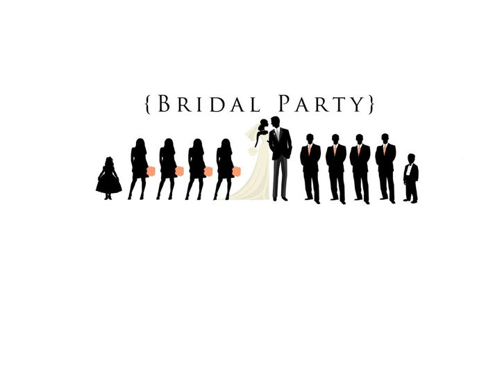 Bridal Party Silhouettes Yes Weddings Community Conversations