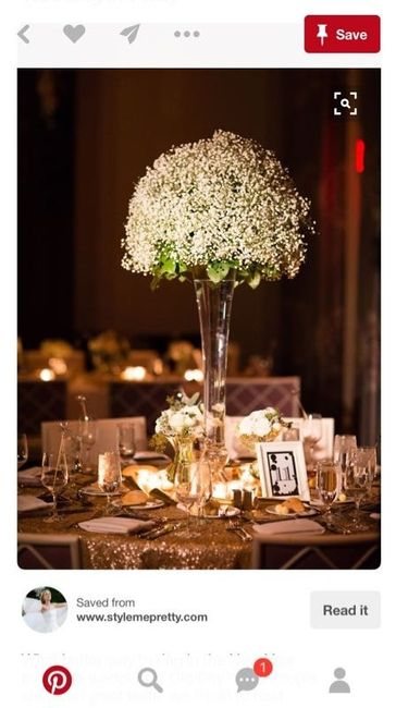 Babys Breath Tall Centerpiece Prices Weddings Style And Dcor