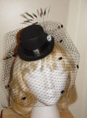 Mini Top Hat with Birdcage Veil  c2bb0d6cda1