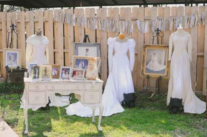 Using family dresses as decor - 1