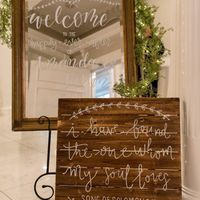 Welcome Sign (Only) Calligraphy