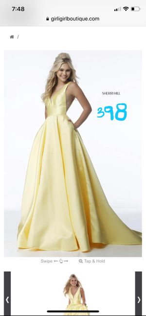 How many dresses have you tried on? 1