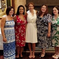 All 4 of my bridesmaids and me