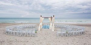 This is our ceremony location...on the beach at 6:30pm, just before sunset.