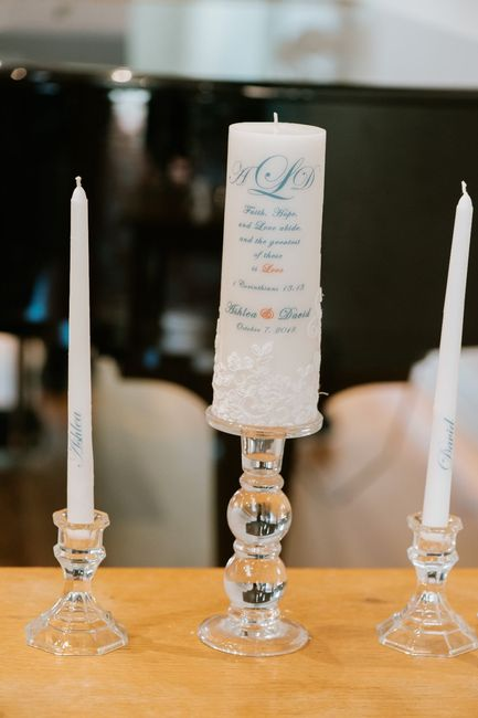 Our (DIY) unity candle