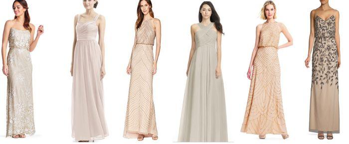 How to designate bridesmaids dresses? 1