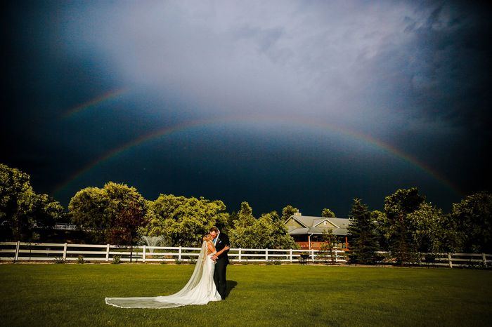 For brides worried about rain on their wedding day... 2