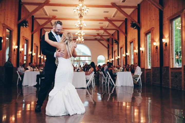 Our choreographed first dance.