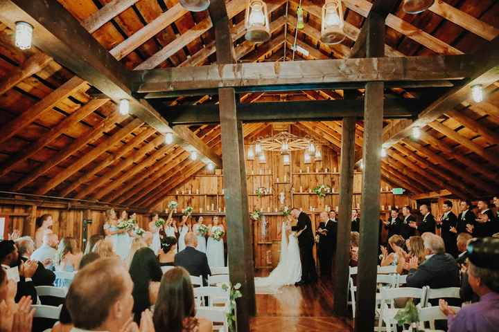 Our ceremony space (upstairs in a loft - it rained so we had to move inside)
