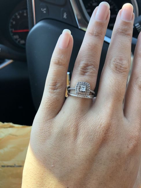 3 stone engagement ring, show me your wedding set! 4