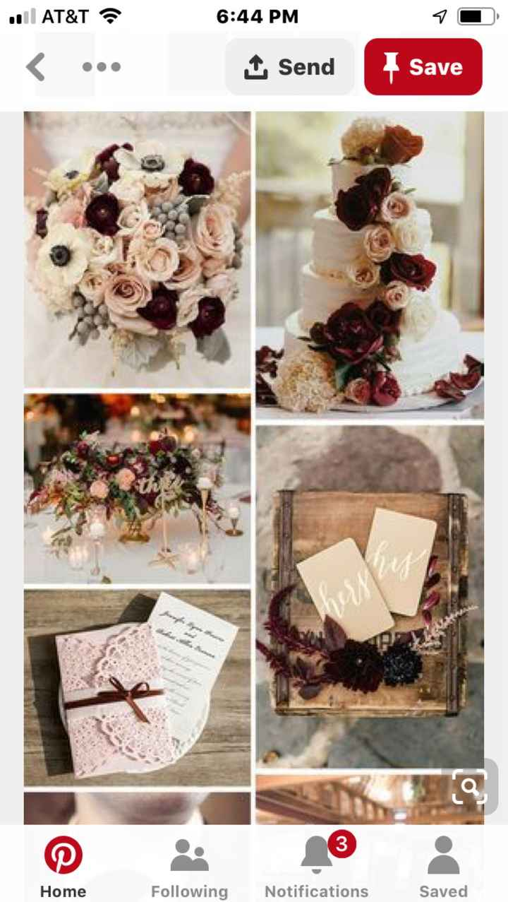 Fall wedding colors that go with burgundy - 2