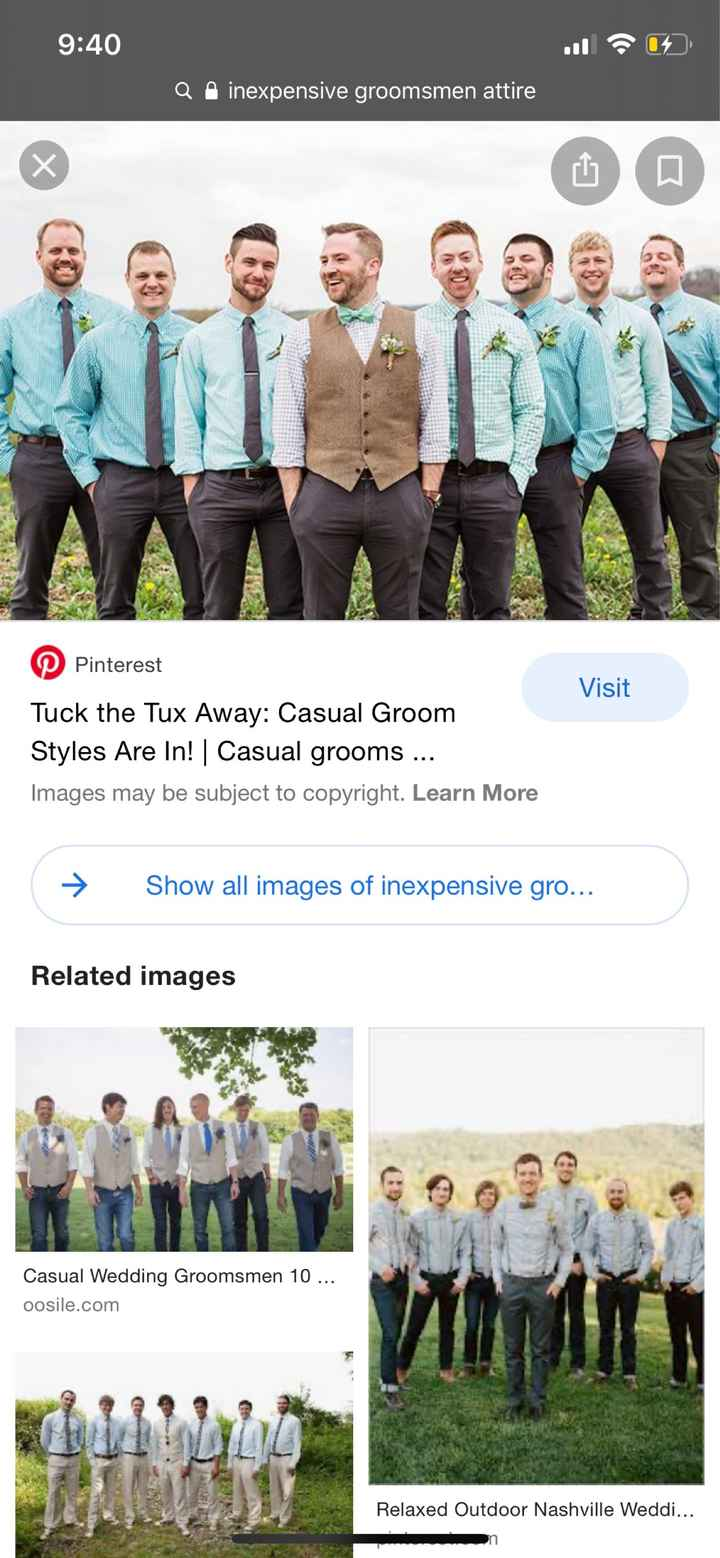 Paying for wedding party attire? - 1