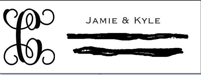 What name do you put in the return address for invites? 1