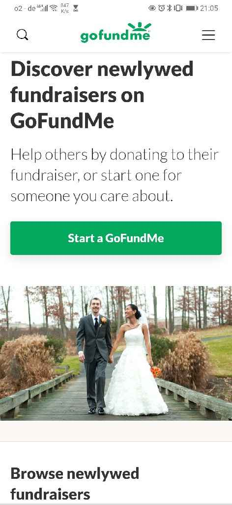 Honeyfund (i'm getting an error message!) or Gofundme? - 1