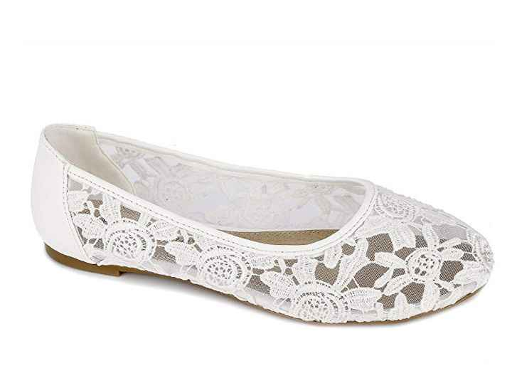 White Shoes for Outdoor Wedding - 1