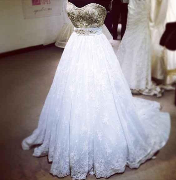 Wedding dress: White, ivory, champagne, or ....?