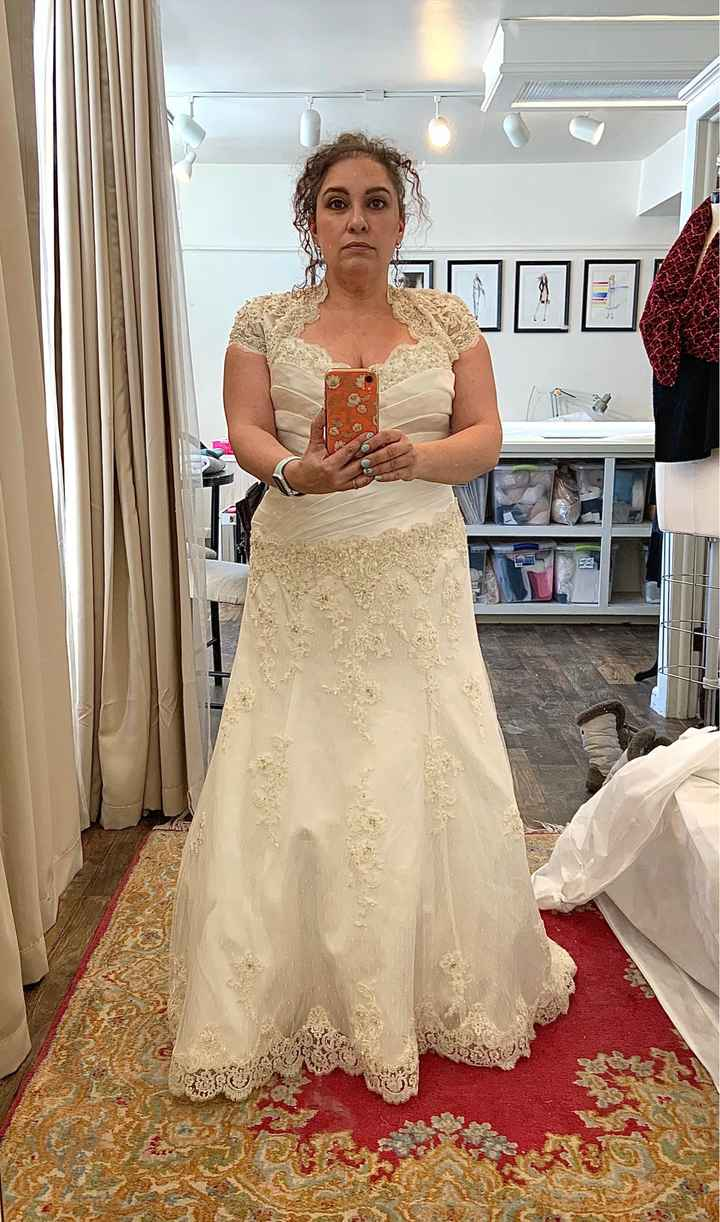 Final fitting...sort of!! Any other March 14th brides? - 2