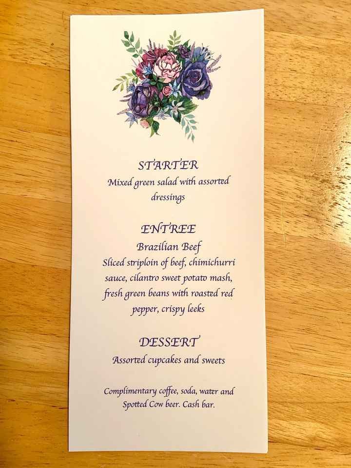 Worked on my menu place settings today! - 1