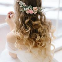 Pink Wedding Gown--headpiece help! - 1