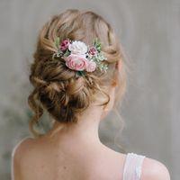Pink Wedding Gown--headpiece help! - 2