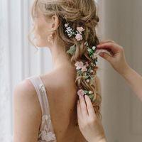 Pink Wedding Gown--headpiece help! - 3