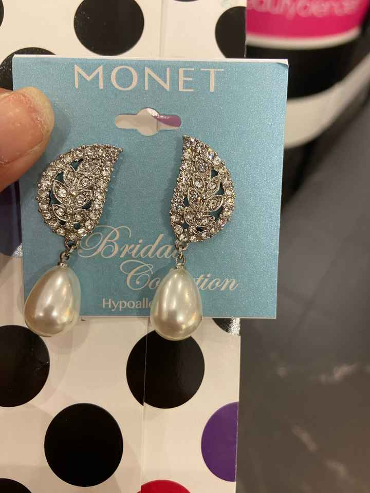jc Penny has a sale on their wedding earrings - 1