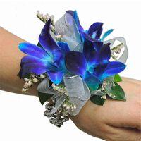 Pretty blue wrist flower thing