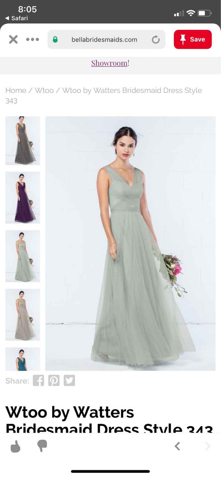 What do your bridesmaids dresses look like? - 1