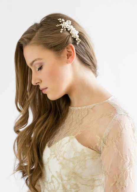 Side part hair embellishments 8
