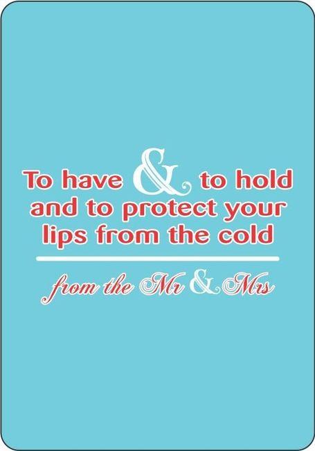 Wedding favor-lip balms