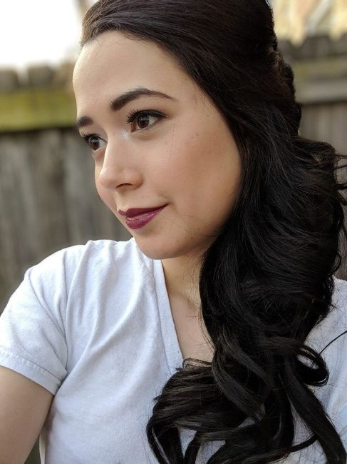 Had my hair&makeup trial yesterday! 1