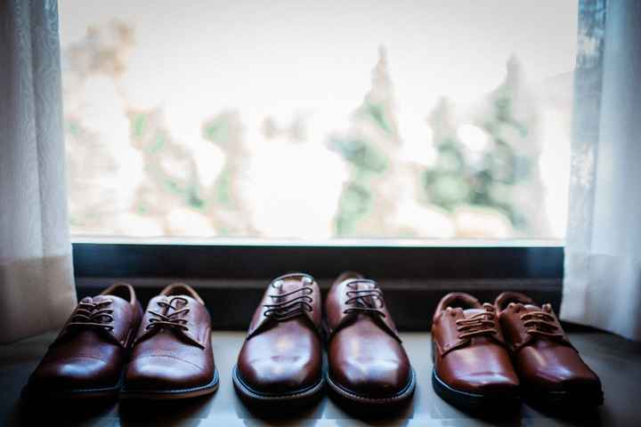 The boys' shoes