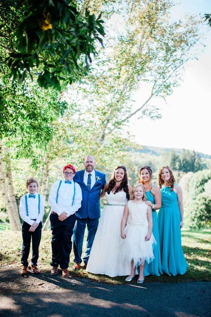 DH's sons were his groomsmen and his daughter was our flower girl