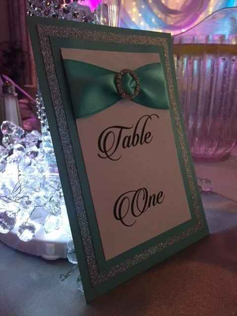 Table numbers! Show me yours!!