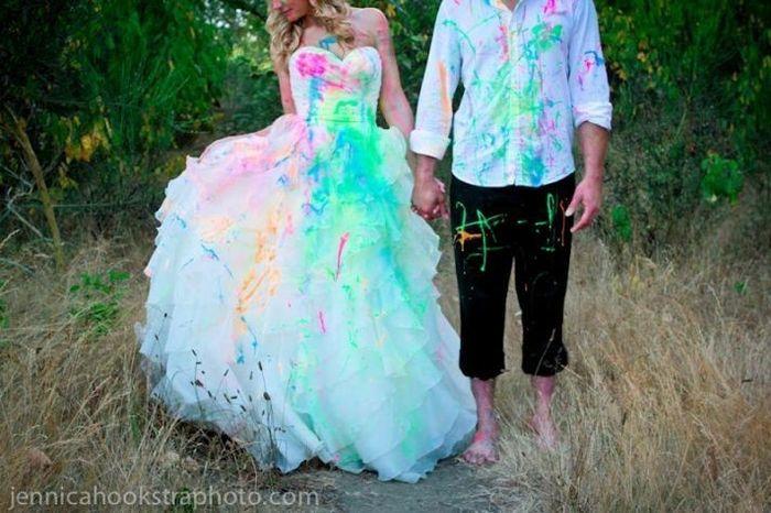 Luke Bryan's Wife's Trash the dress shoot!