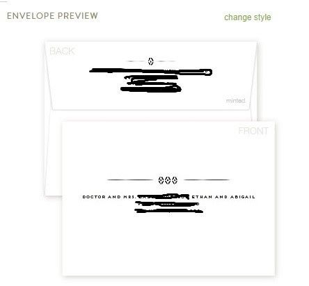 Save The Date Recipient Address Printing Via Minted Weddings