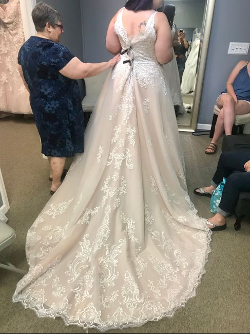 i love my dress but I'm nervous it's not bridal enough 1