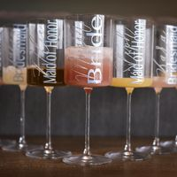 Just love this picture of the glasses I made for my bridal party and family