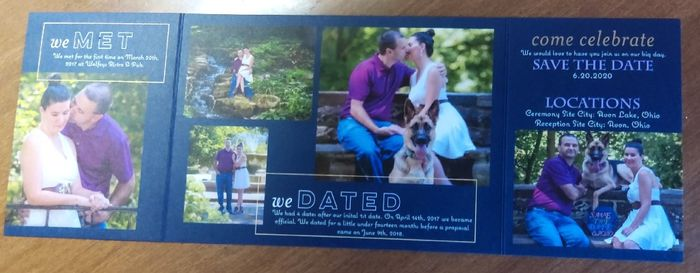 How many pictures did you use on your Save the Dates? 10