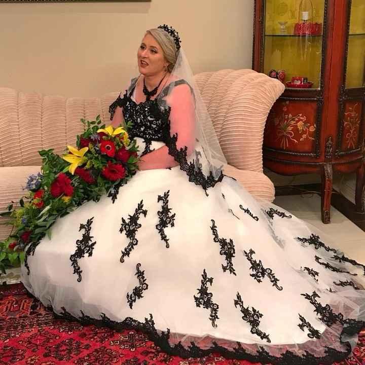 Colored wedding dress, anyone?