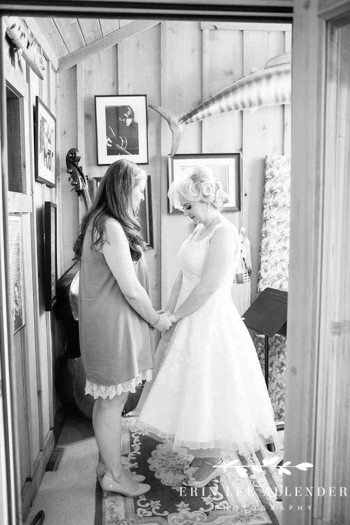 Praying with my BFF right before the ceremony. One of my fav parts of the day.