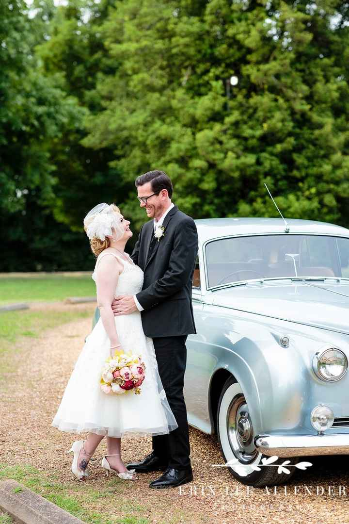 Love this shot & glad we rented the vintage Bentley for the day!