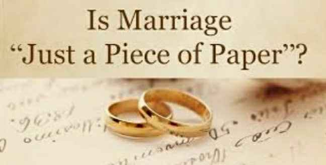 """""""Marriage Is Just a Piece Of Paper"""" - 1"""