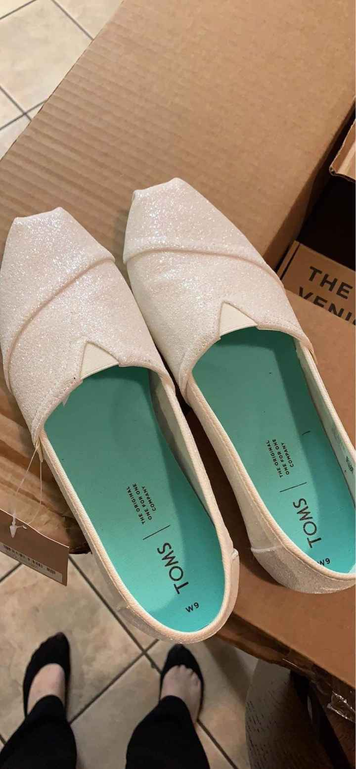 Curious what everyone's wedding shoes look like? - 1