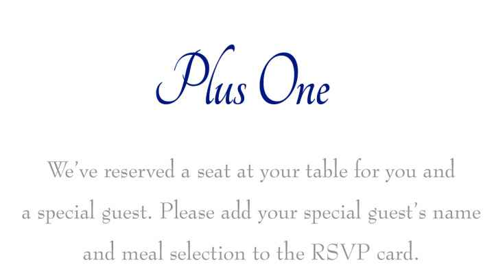 Addressing guests with plus ones - 2