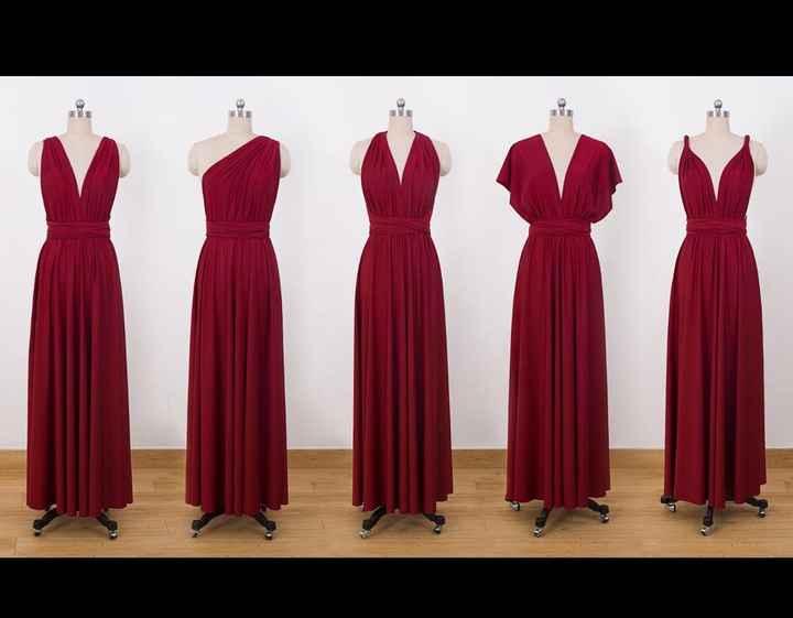 Apple shape bridesmaid dresses - 2