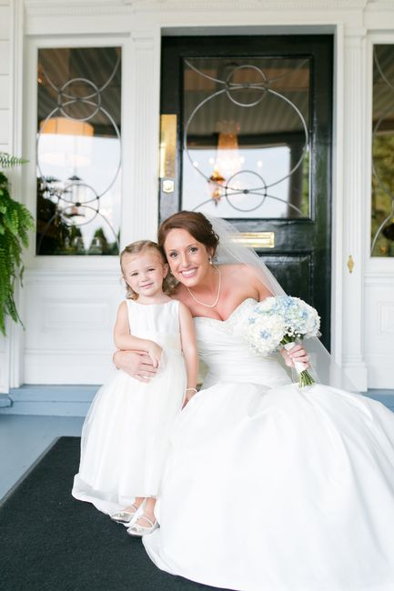 43c04c4b228 My dress was ivory  the flower girl s dress was white. You really can t  tell any difference!
